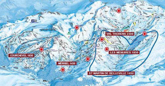 La station de ski des Menuires